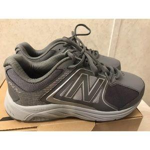 New Balance 847v3 Gray Walking Shoes Size 8 4e